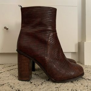 H&M Brown Snakeskin Looking Booties